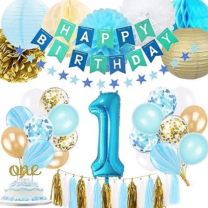Amazon.com: Decoración para primer cumpleaños de niño ...