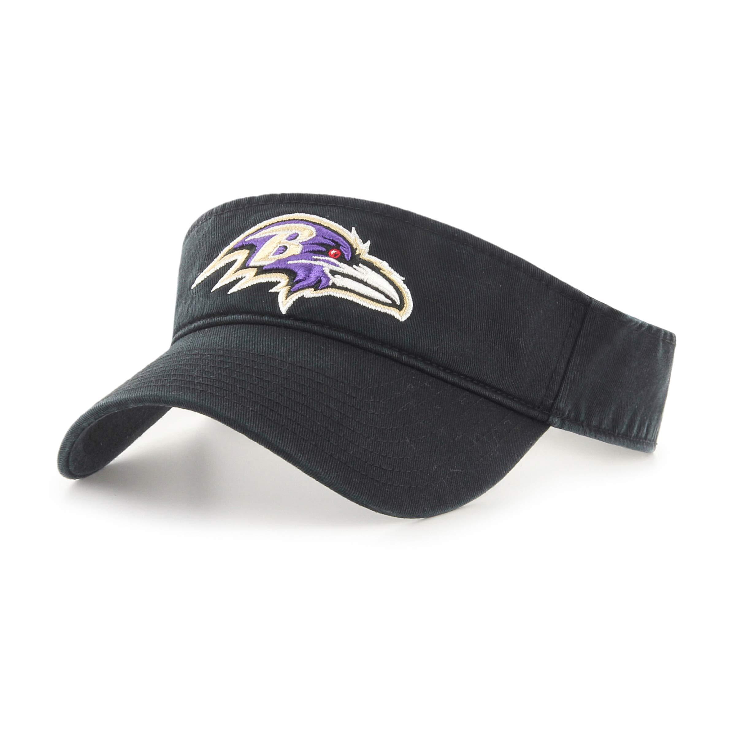 OTS NFL Baltimore Ravens Male Visor, Black, One Size