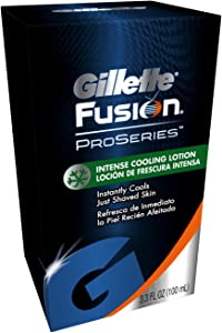 Gillette FUSION Proseries Intense Cooling Lotion COOLS just shaved skin 3.3 Oz