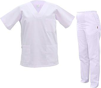 GRUPO MARBLAN - Pijama Sanitario Completo - Unisex - Cintura Elastica - Capacidad FILTRACION BACTERIANA