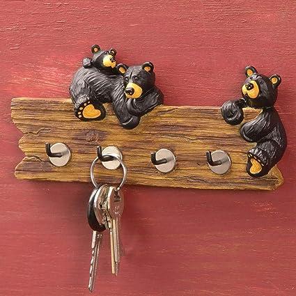 Black Bear Key Holder Amazon Co Uk Kitchen Home
