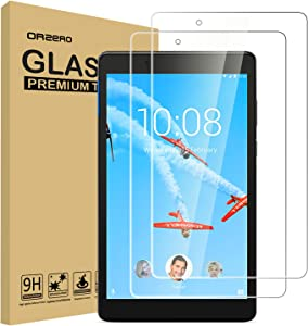 (2 Pack) Orzero Tempered Glass Screen Protector Compatible for Lenovo Tab E8, 9 Hardness HD Anti-Scratch Bubble-Free High-Definition (Lifetime Replacement)