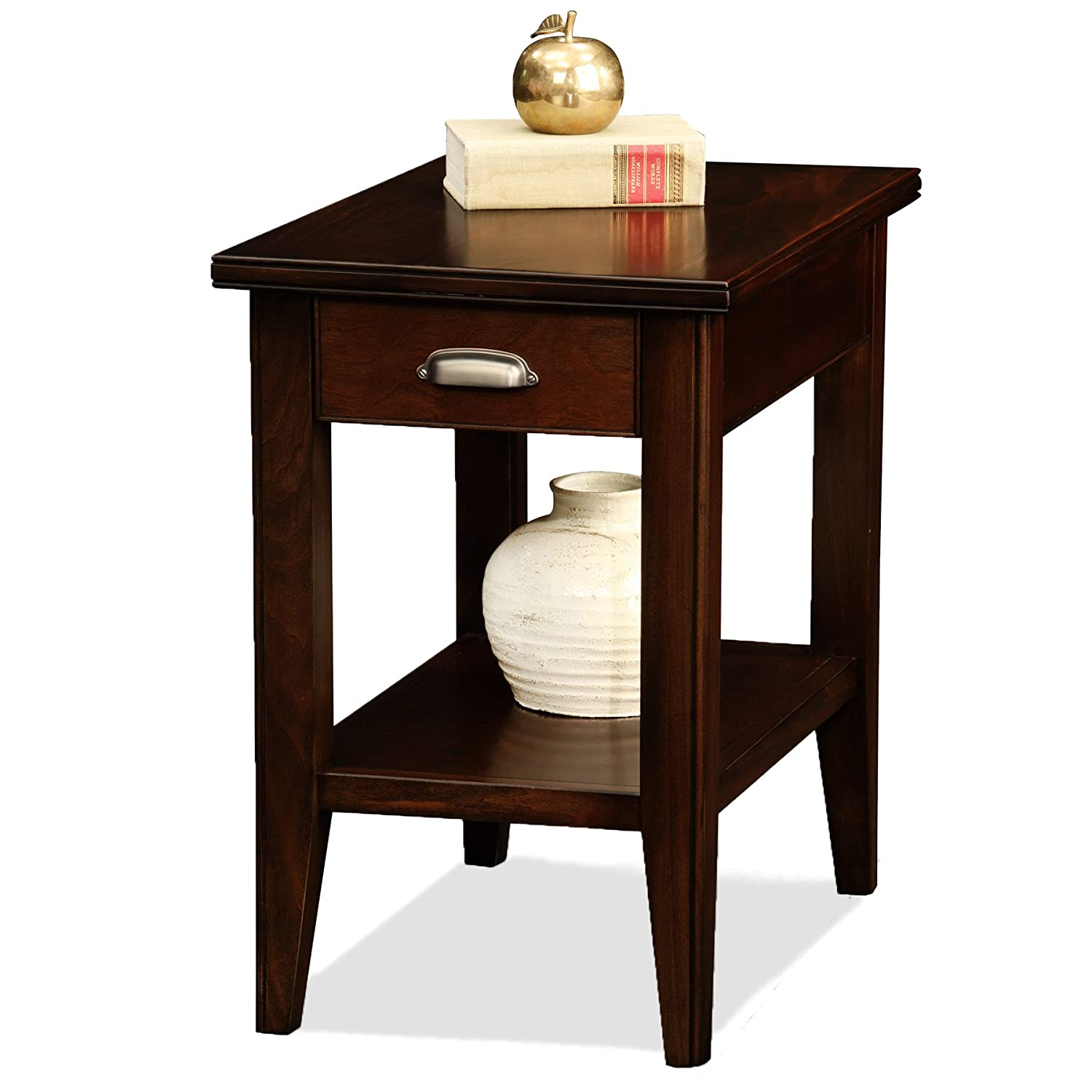 amazoncom leick laurent chairside end table with drawer kitchen  - amazoncom leick laurent chairside end table with drawer kitchen  dining