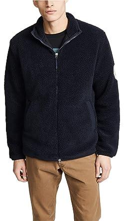 2a792c59e Fred Perry Men's Borg Zip-Through Fleece Jacket, Navy, Blue, X-Large ...
