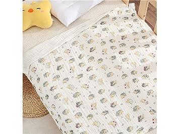 Huertuer Toallita de Dormitorio Baby Cartoon Hedgehog Jacquard Pattern Gasa Toalla de baño Lindo para niños con Manta (Blanco) Toalla Cómoda: Amazon.es: ...