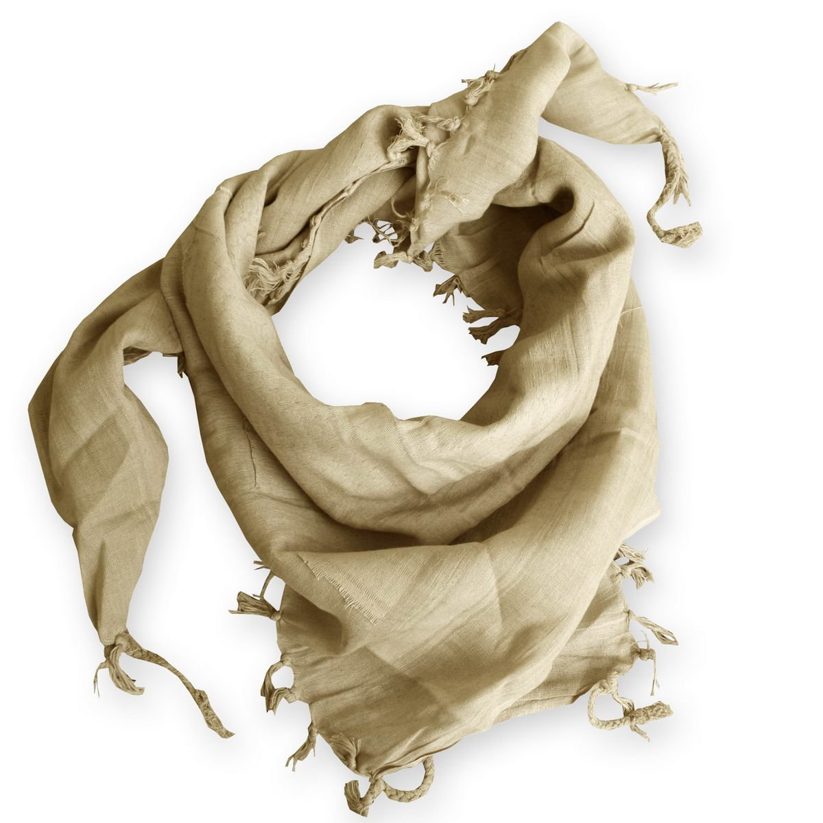 Shemagh Keffieh Cheche Foulard Palestinien Coloris Sable