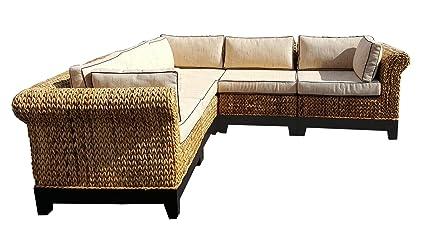 Excellent Amazon Com Chic Teak Naples Sectional Sofa 5 Pieces Made Unemploymentrelief Wooden Chair Designs For Living Room Unemploymentrelieforg