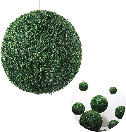 SYLTL Simulación Verde Planta Hierba Bola de Hogar Boda Hotel Jardín Decoración Planta Bola Lceiling Decoración Flor Bola de Hierba de Milán,26cm: Amazon.es: Hogar