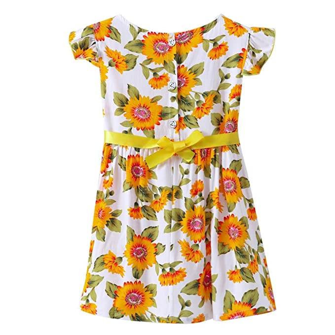 Kleid Mädchen, HUIHUI Toddler Mädchen Kleid Blumendruck Ärmellos ...