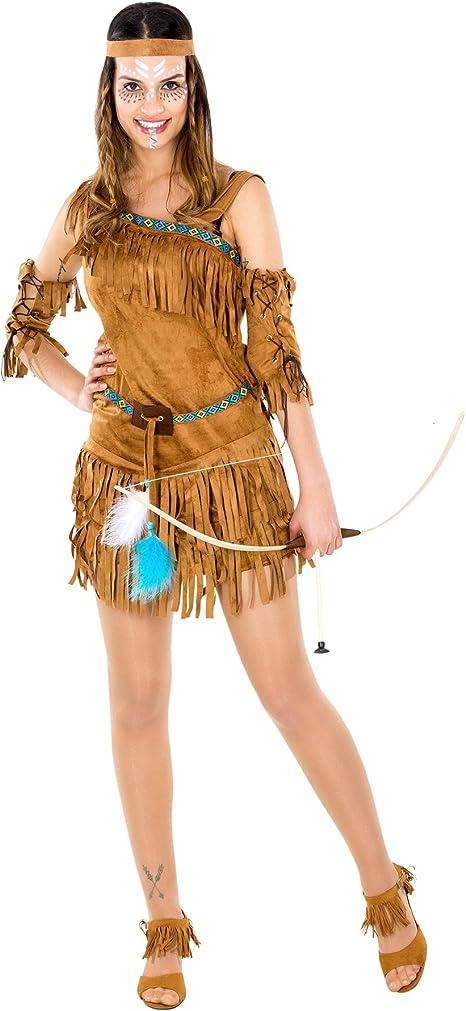 TecTake Disfraz de Mujer India Cheyenne | Impresionante Vestido un ...