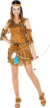 TecTake Disfraz de Mujer India Cheyenne | Impresionante Vestido ...