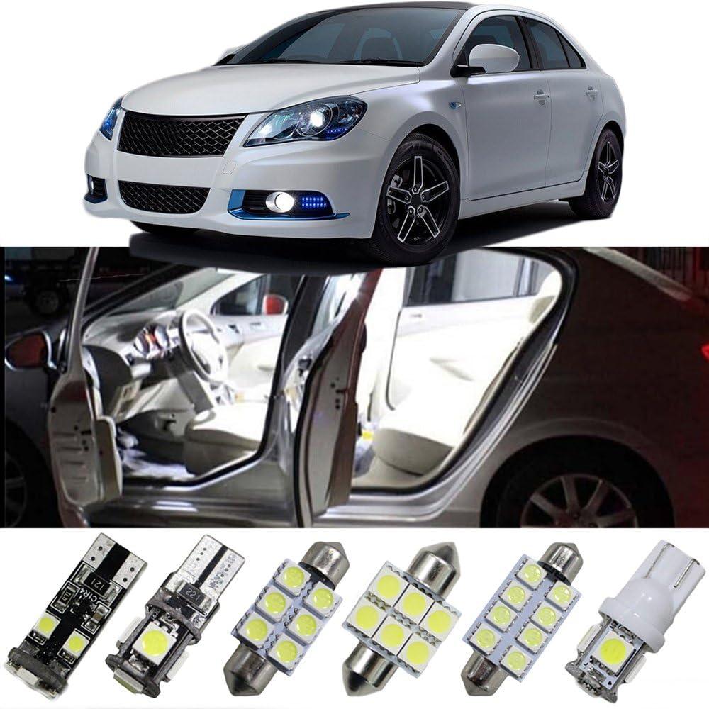 Amazon Com For Suzuki Led Light Bulbs Interior Led Light Bulbs Kizashi S Cross Vitara Liana Led Dome Lights White 8pcs Automotive