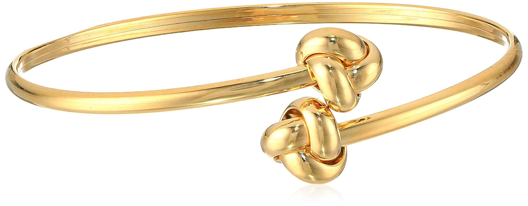 14k Yellow Gold Double-Knot Bangle Bracelet