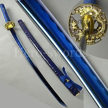 Amazon.com: Hecha a mano t1060 cuchillo de dragón de acero ...