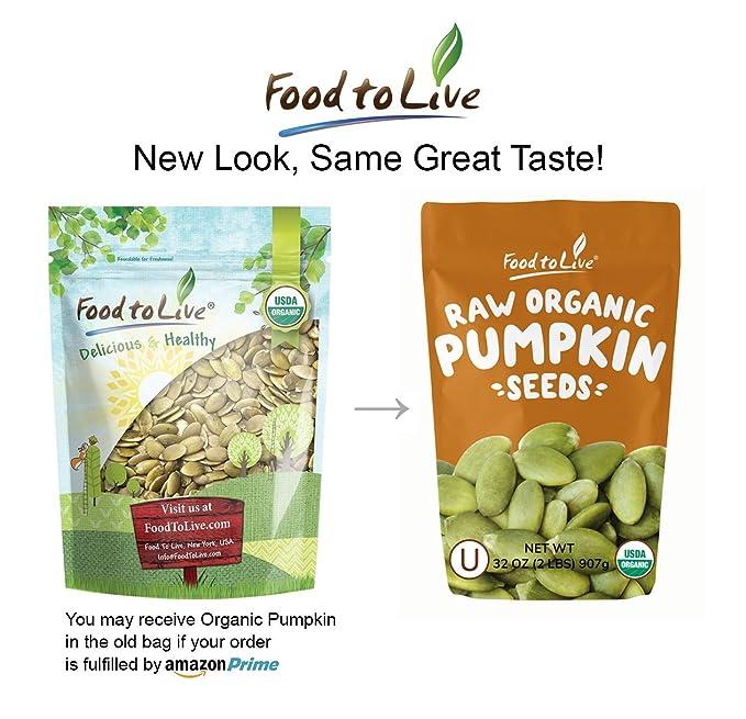 Food to Live Pepitas/Semillas de Calabaza Bio (Eco, Ecológico, crudas, sin cáscara, comestible según la ley judía) - 906 gramos: Amazon.es: Alimentación y ...