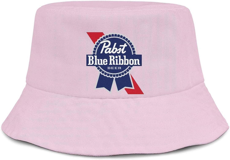 Unisex Bucket Hats Fishing Cap jdadaw Pabst-Blue-Ribbon-Beer-Black
