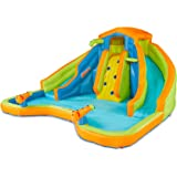BANZAI 90369 Adventure Club Water Park Inflatable 2 Lane Water Slide Splash Pool
