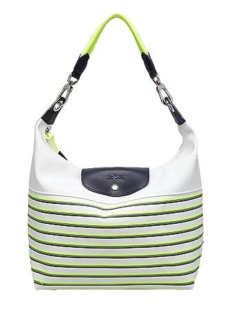 Longchamp Mariniere Striped Hobo Bag, Yellow Multi