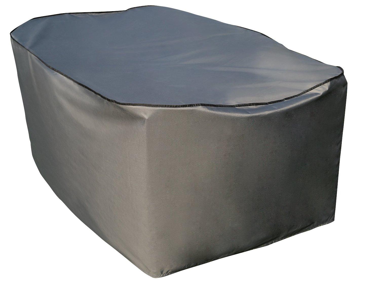 Sorara-Copertura protettiva per tavolo rettangolare e Grigio/279 x 208 x 90 cm (L x P x A)/poliestere/& Rivestimento impermeabile in PU, per mobili da giardino