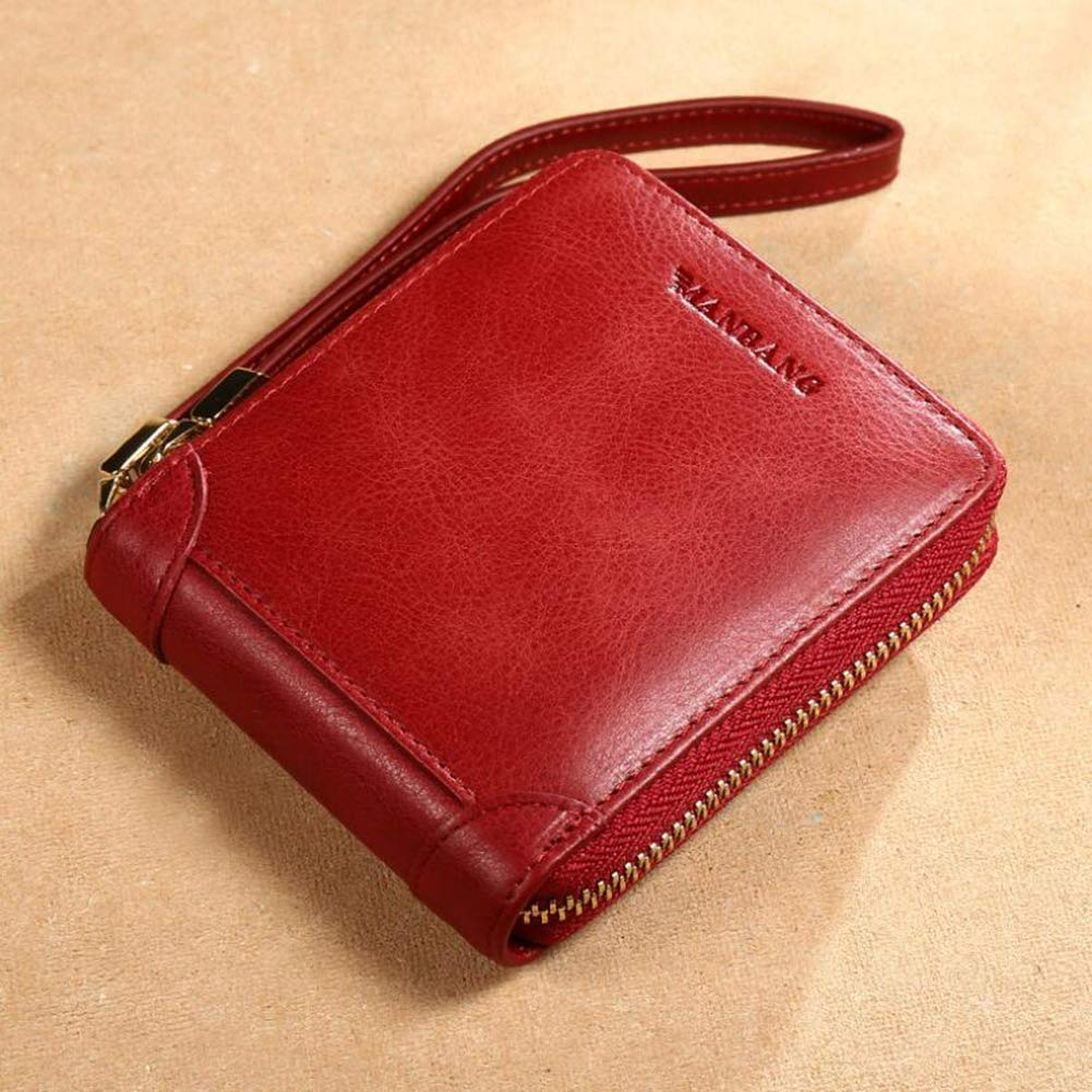A Women's Wallets, MultiFunction Retro Zip Coin Pocket Casual Fashion Card Package Money Clip,A,11.5x2x9.7CM