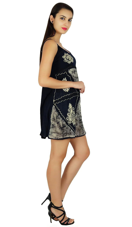 7f5c51da6fd6 SEASHORE Batik Printed Summer Dress Beach Top Casual Viscose Rayon Tunic  Sundress  Amazon.co.uk  Clothing