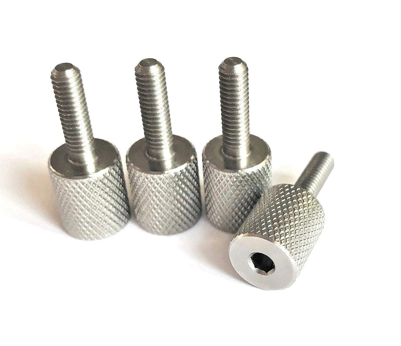 Precisiongeek Molet/é Pouce vis acier inoxydable M4 x 13mm cl/é /à six pans creux dans la t/ête