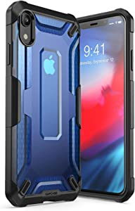 SUPCASE [Unicorn Beetle Series] Case for iPhone XR , Premium Hybrid Protective TPU and PC Clear Case for iPhone XR 6.1 Inch 2018 Release (Blue)