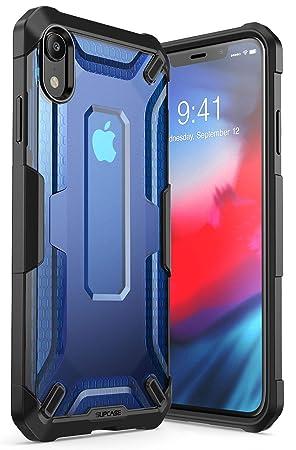 coque iphone xr transparente bleu
