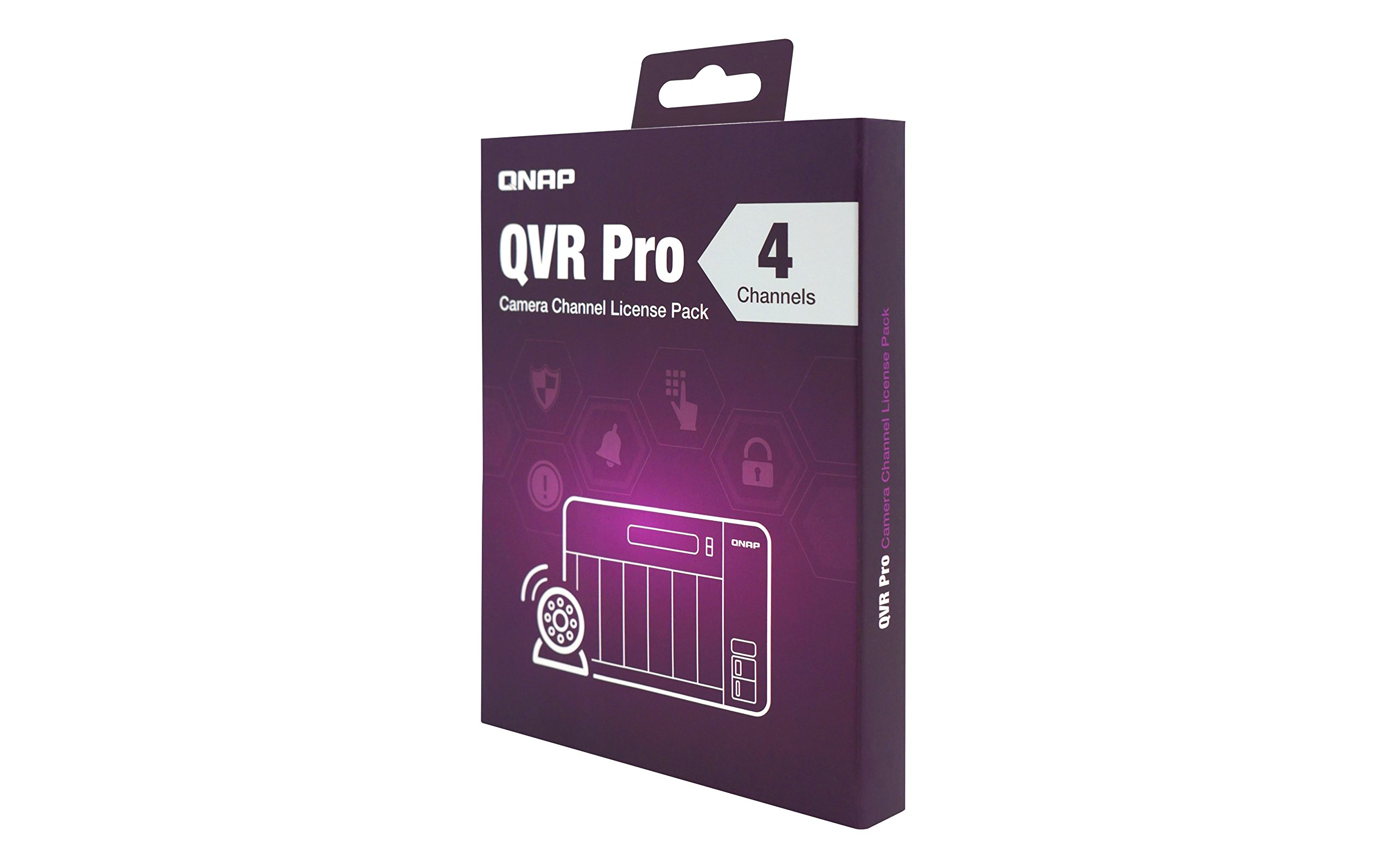 QNAP LIC-SW-QVRPRO-4CH 4 Channel license (QVR Pro Gold is required) 3 Additional 1, 4, or 8 channel(s) for QVR Pro The 1, 4, and 8 channel license can only be activated if the Turbo NAS already has a QVR Pro Gold license. Supported Models: For the best user experience, we recommend using 64-bit x86 NAS models with at least 4GB RAM