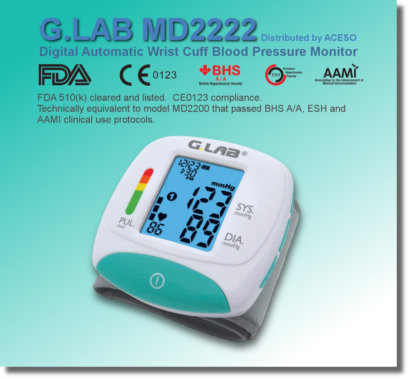 Amazon.com : G.LAB G.lab Digital Automatic md2222 Wrist Cuff Blood Pressure Monitor, 2.3 Ounce : Beauty