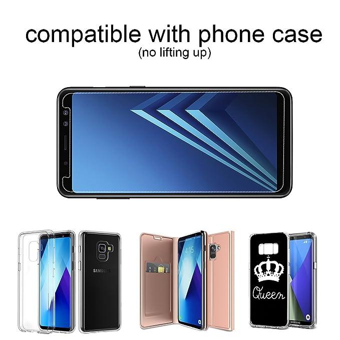 VICKSONGS Protector de Pantalla para Samsung Galaxy A8 2018,Cristal Vidrio Templado Premium Screen Protector para Samsung Galaxy A8 2018-2 Pack: Amazon.es: ...