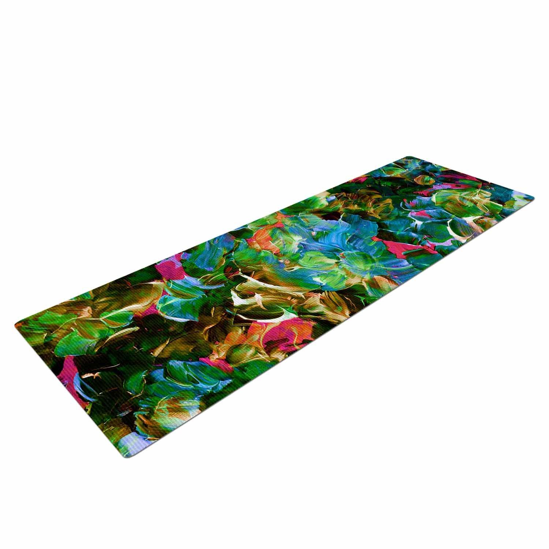 Kess eigene EBI Emporium Bloom auf. Tropical Grün Blau Yoga Matte, 182,9 x 61 cm