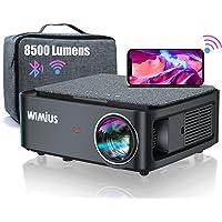 Beamer, Full HD 1080P 8500 lumen beamer 5G WiFi Bluetooth beamer ondersteuning 4K video, LED home theater video beamer…