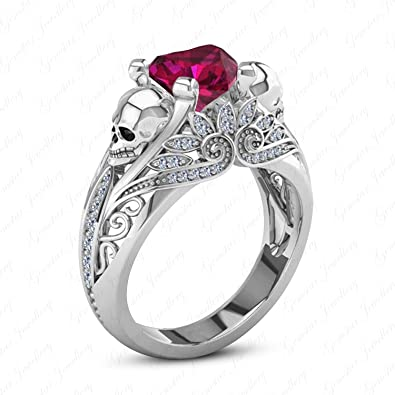 Real Gold Filled Silver 925 Ruby /& AAA Zircon Ring