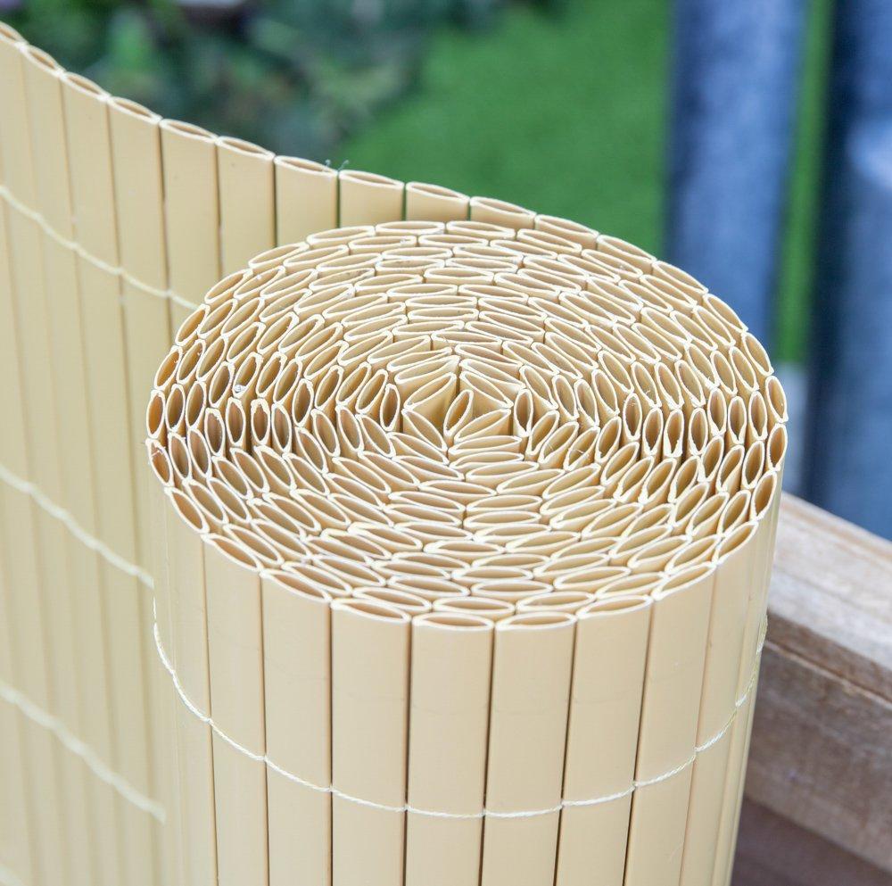 Rotolo da 4 metri X 1.0 metro Paravento in canna di Bamboo Artificiale