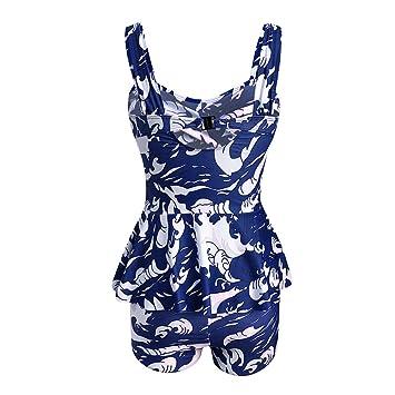 Sexy Ropa de Bikini Playa de Mujer 💝💞 Yesmile Conjuntos de Mujeres Tankini Shorts Bikini para Mujer Trajes de baño Sujetador Push-Up Acolchado: Amazon.es: ...