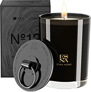 ESNA HOME Luxury Natural Soy Scented Candle   50 Hours Long Burn Candles for Home Scented   Lemon Grass Essential Oil Couples Gifts   Aromatic Candle Premium Gift Box Boyfriend Gifts