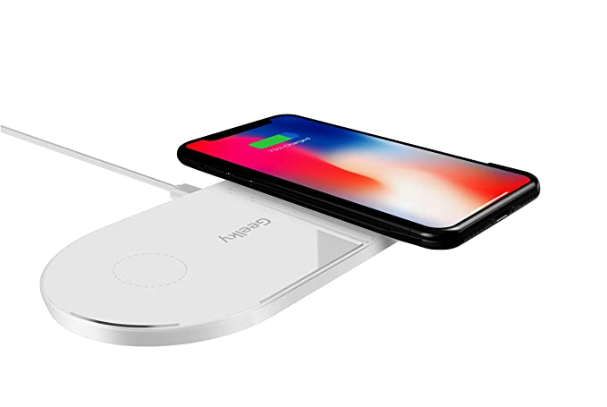 PowerPad X2 Dual Wireless Charger for iPhone X, iPhone 8 Plus, iPhone 8, Samsung Galaxy S8+ S8 S7 S7edge S6 & all Qi enabled devices Qi Wireless ...