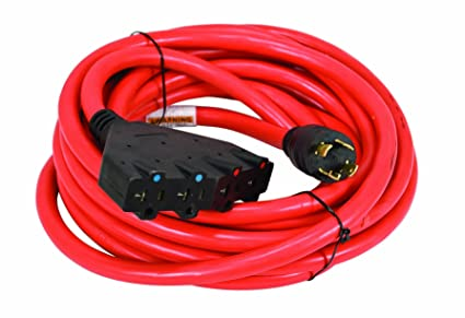 powermate pa0650193 25-foot 30 amp 10 gauge 4 120 volt outlet generator  power cord
