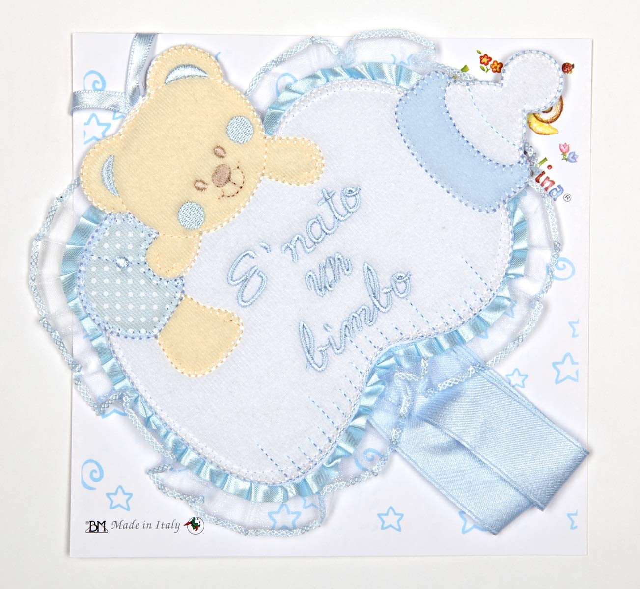 Schleife Geburt///Überwiege Babyflasche blau