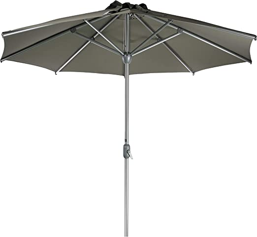 SORARA Apple Parasol Sombrilla Jardin, Marrón, Ø 300 cm / 3m: Amazon.es: Jardín