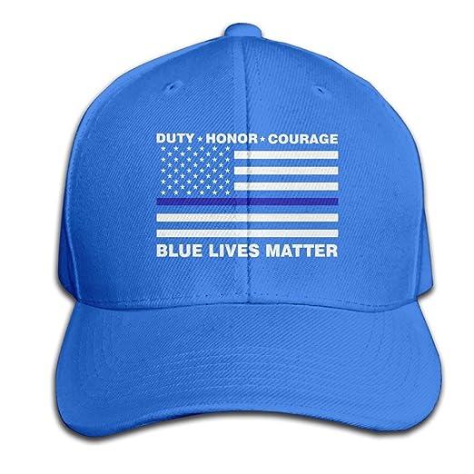 Nak50 Cap Blue Lives Matter Police Blue Line Us Flag RoyalBlue Adjustable  Casquette Hat for Men Women 32fcaa4e761