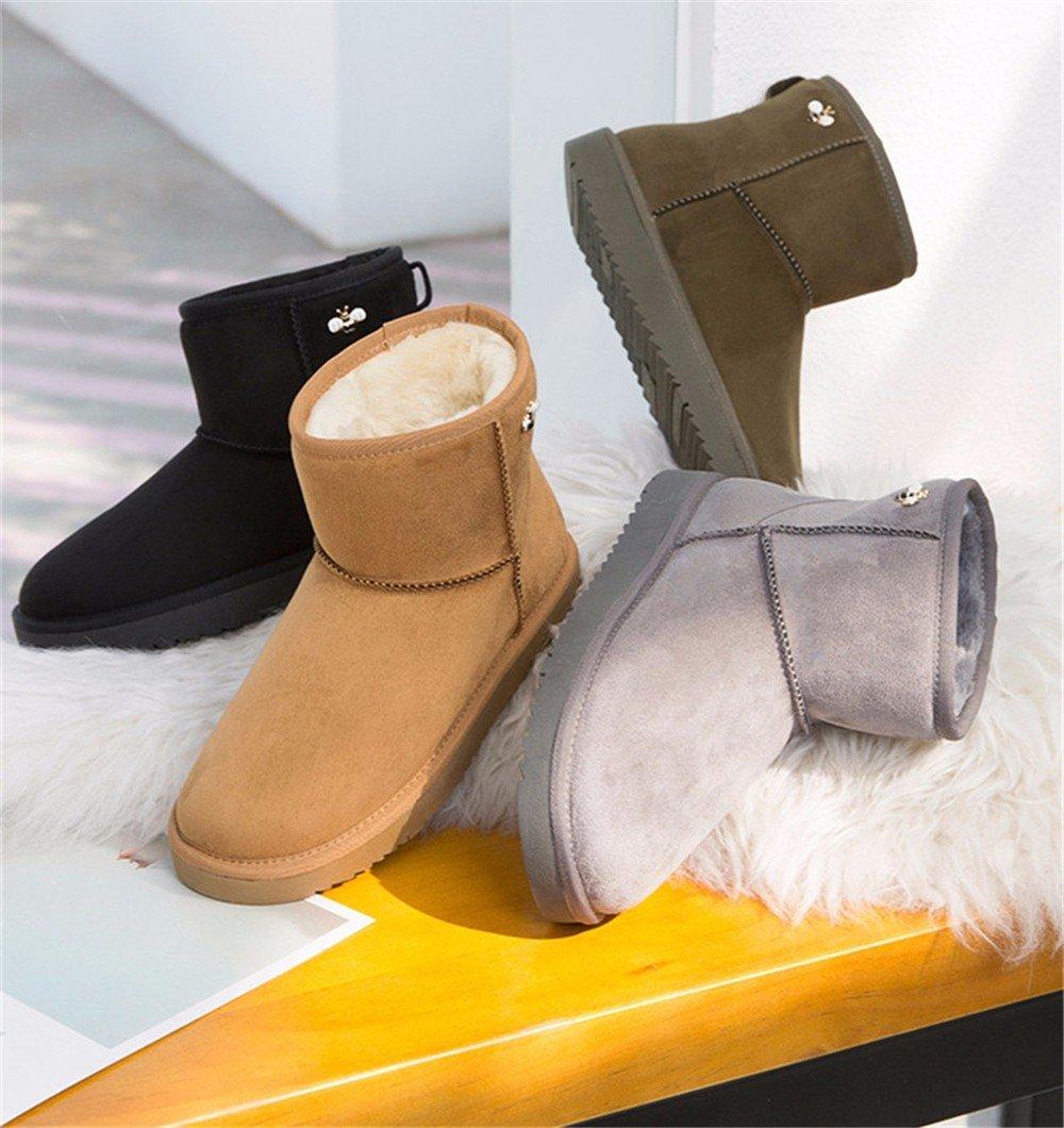 FLYRCX Frau Winter samt samt samt dicke warme Schuhe Casual Fashion rutschfester Stiefel b6fab9