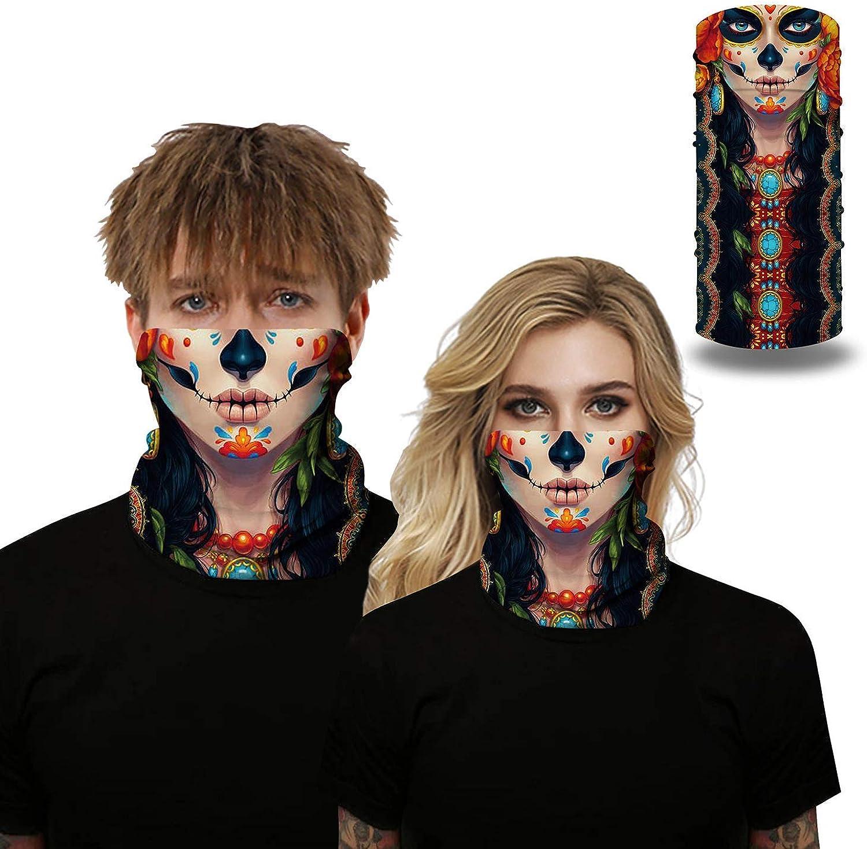 Neck Gaiter for Men Summer Breathable Face Mask Bandana for Men Women Reusable Dust Wind Seamless UV Protection Headwear