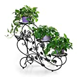 HLC 3 Pots Pot Plant Planter Herbs Flower Stands Indoor and Outdoor Use Vintage Style