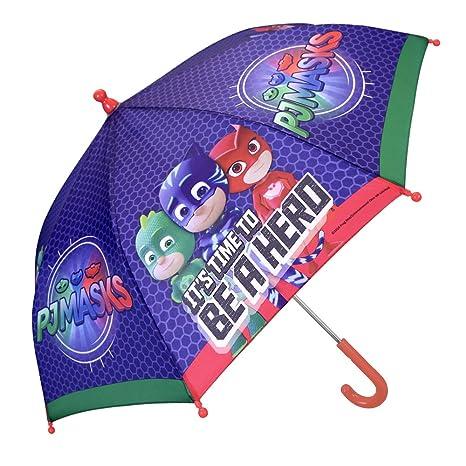 Paraguas Pj Masks de Niño - con estampado Catboy, Owlette y Gekko - Paraguas Los