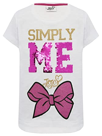 d723188a M&Co JoJo Siwa Character Girls 100% Cotton Two Way Flip Sequin Slogan Pink  Bow Print