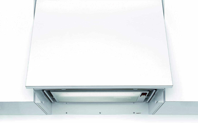 NOVY 815 Telescópica o extraplana Blanco 350m³/h - Campana (350 m³/h, Canalizado, 59 dB, Telescópica o extraplana, Blanco, 15 W): Amazon.es: Hogar