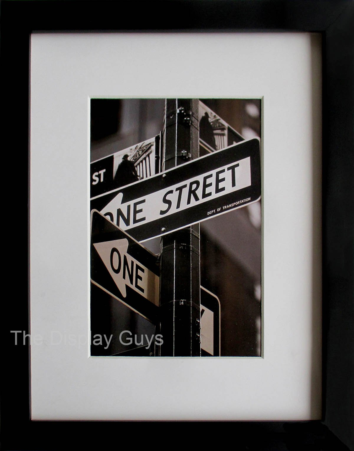 The Display Guys ~Luxury Made Affordable~ 11X14'' Pine Wood Frame in Black with Real Tempered Glass, Includes Two Mat Boards Option for 8x10' Photo And 5x7' Collage Photos