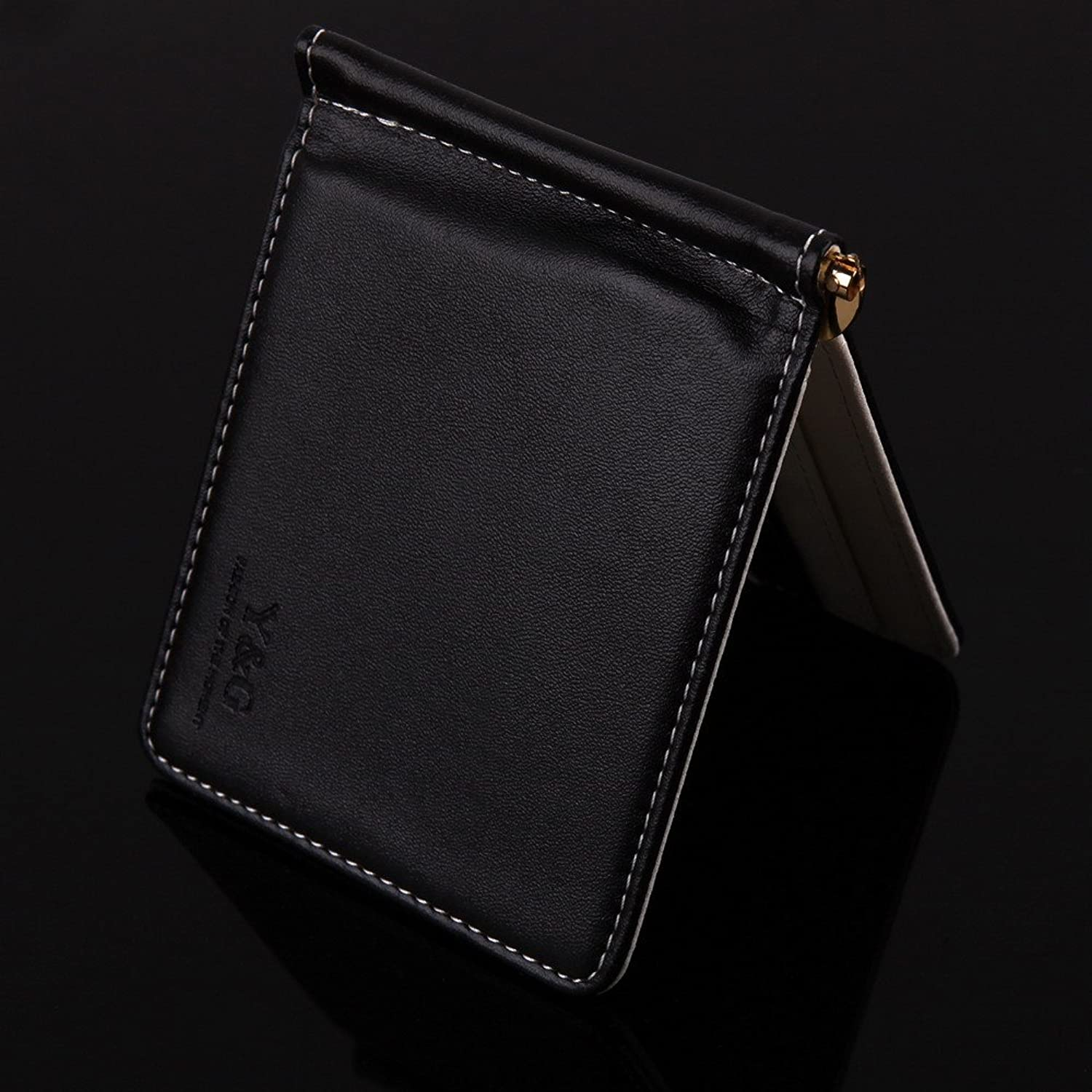 designer wallet with money clip cjai  YCA1001 Black Designer Wallet 5 Card Holder Mans Money Clip Wallet By Y&G  at Amazon Men's Clothing store: Designer Mens Wallets